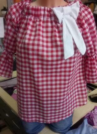 Kup mój przedmiot na #vintedpl http://www.vinted.pl/damska-odziez/bluzki-bez-rekawow/19041349-bluzka-hiszpanka-w-kratke
