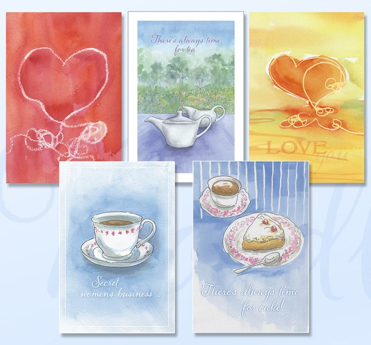'FRIENDS' Greeting card pack includes five cards featuring soft watercolours just for your treasured friend. www.boodledesigns.com.au