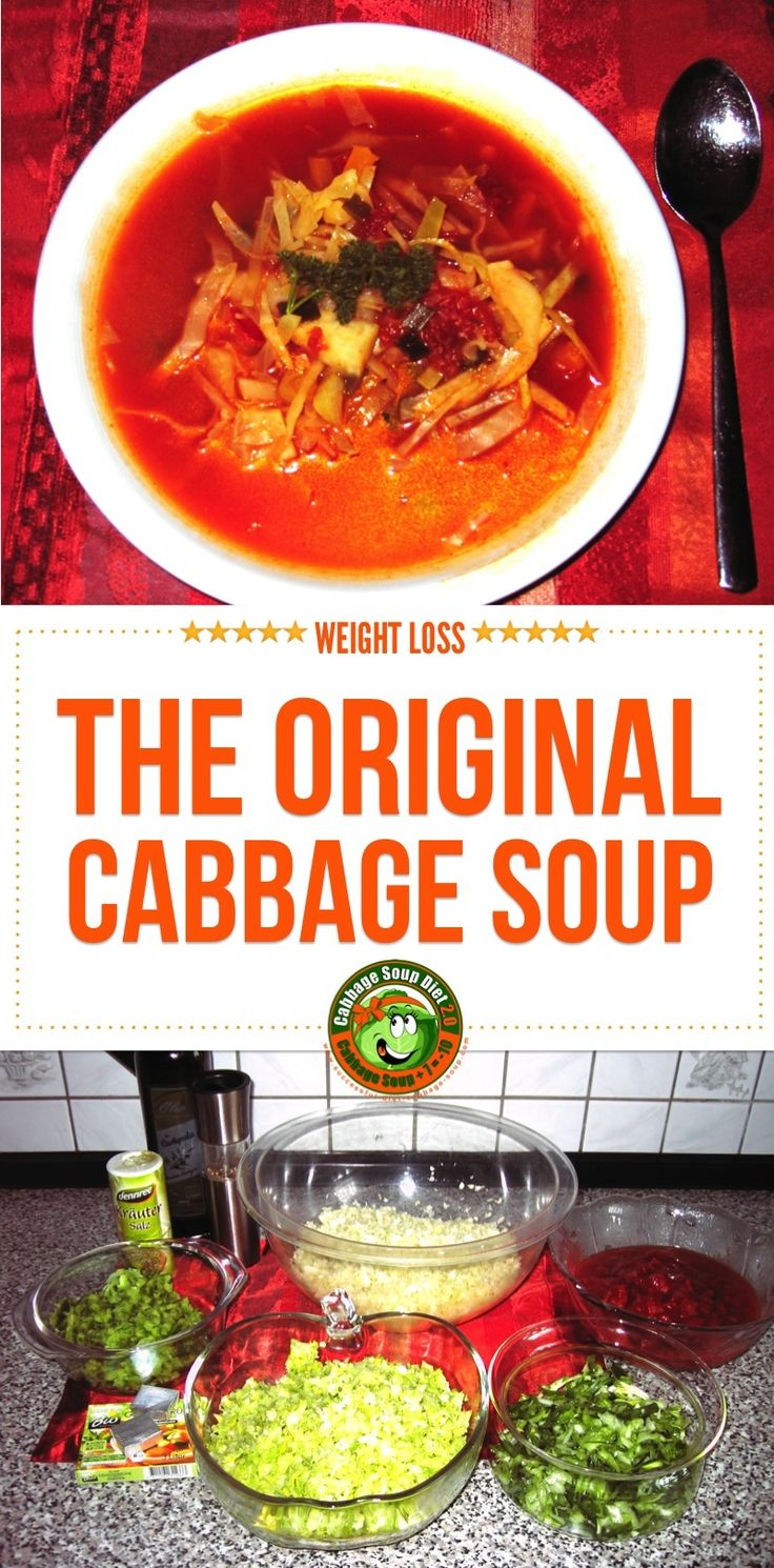 click here for the original cabbage soup diet recipe and many variations from star cooks. Get some additional tips how to spice up your cabbagesoup!