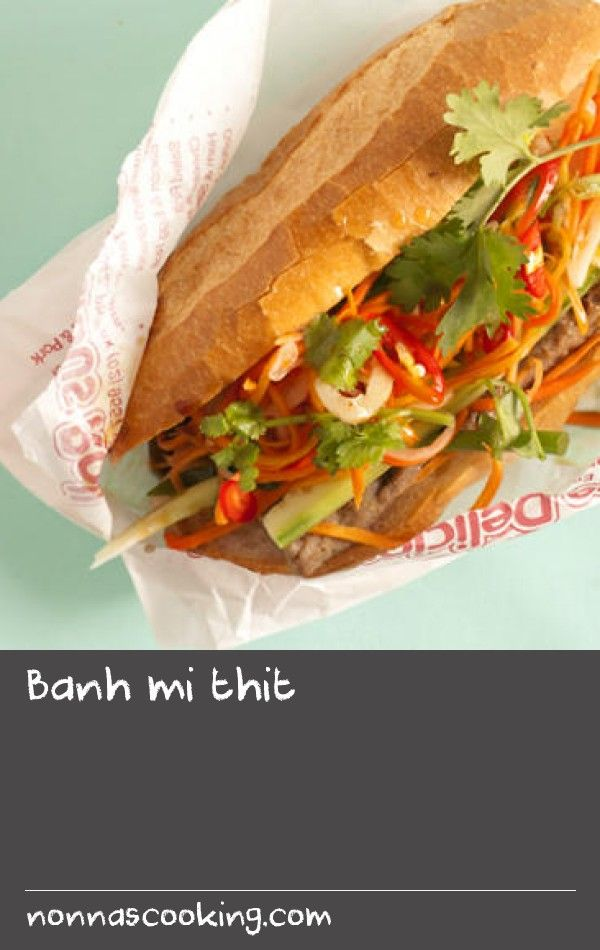 Banh mi thit | Make your very own Vietnamese pork rolls at home with our simple recipe for this takeaway favourite. Start from scratch by pickling the carrot and making the mayonnaise, then add crunch with fresh cucumber, coriander and chilli.