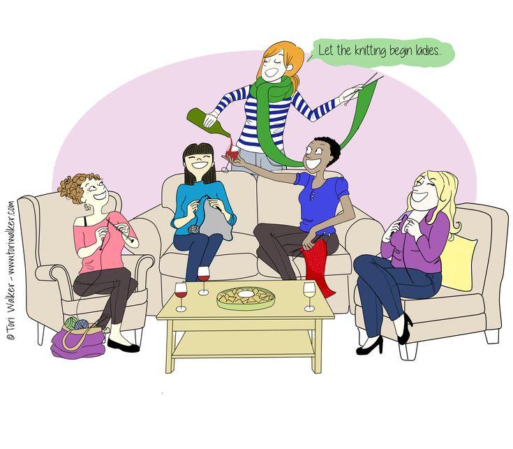 Let the knitting begin ladies!  Tori Walker Draws Mommy Life.  www.toriwalker.com