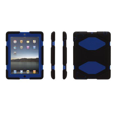 Étui Survivor de Griffin pour iPad 2/iPad (3e gén.)/iPad (4e gén.) (GB35380) - Noir/bleu