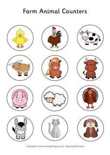 Free Farm Animal Printable coloring pages & Games