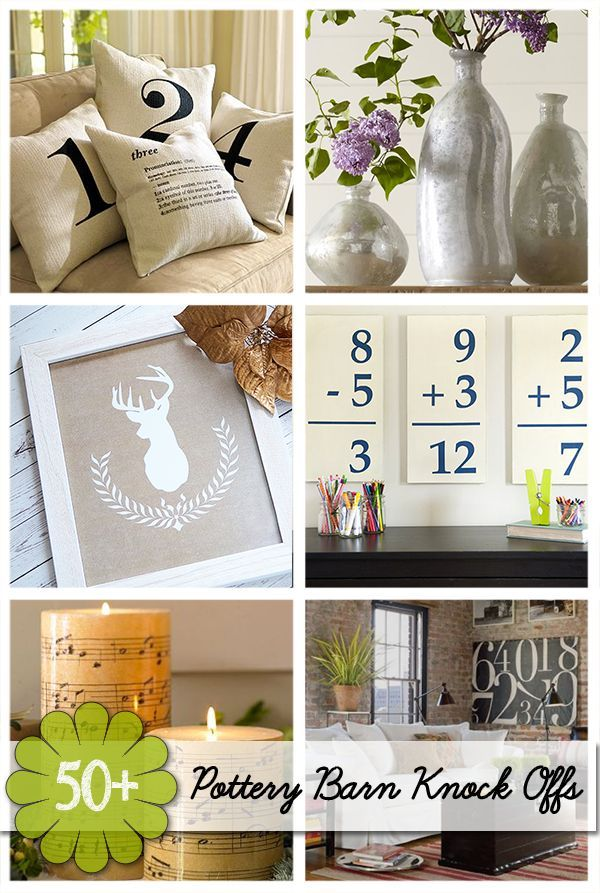 50 Plus Favorite Pottery Barn Knock Offs | DIY Projects and Crafts Inspired by Pottery Barn