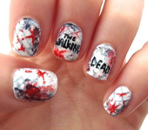 I am providing you a post of 18 Halloween zombie nails art designs & ideas  of - 60 Best Halloween Zombie Nail Art Images On Pinterest Halloween
