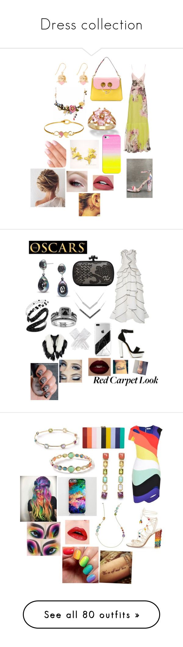 """Dress collection"" by shirowland ❤ liked on Polyvore featuring Roberto Cavalli, Bamboo, J.W. Anderson, Aurélie Bidermann, Les Néréides, Palm Beach Jewelry, LeiVanKash, Casetify, Oscar de la Renta and Bottega Veneta"