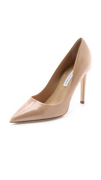 TCC Shopbop Friends and Family Pick!  Use code 'INTHEFAMILY14' for 25% off sitewide! I love these Diane Von Furstenberg Bethany pointed toe patent nude pumps.