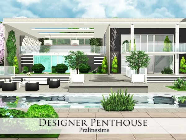 Sims 4 Updates: TSR   Houses And Lots, Residential Lots : Designer  Penthouse By