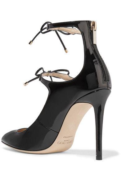 Jimmy Choo - Sage Patent-leather Pumps - Black - IT39.5