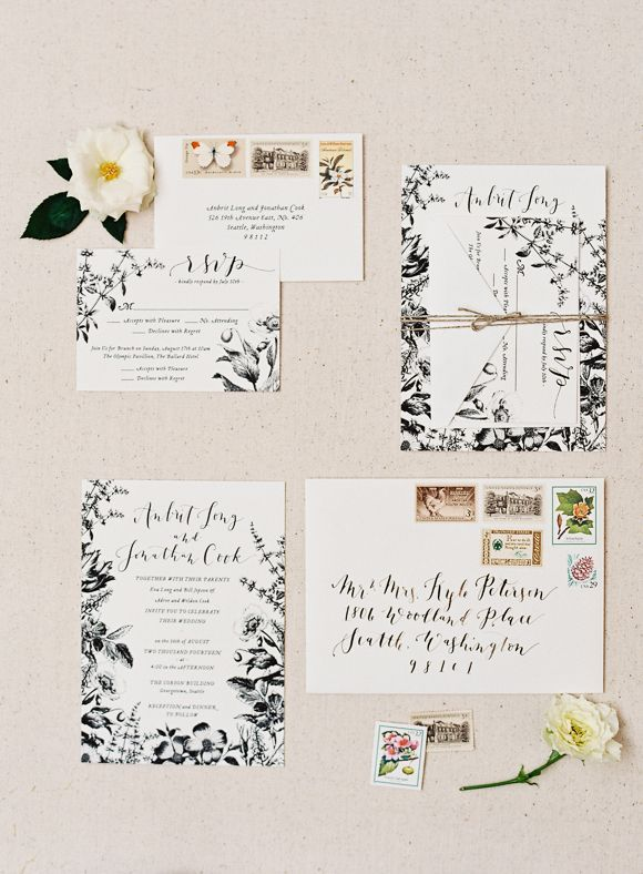Snippets, Whispers and Ribbons ~ Gorgeous Ideas for Spring Wedding Invitations