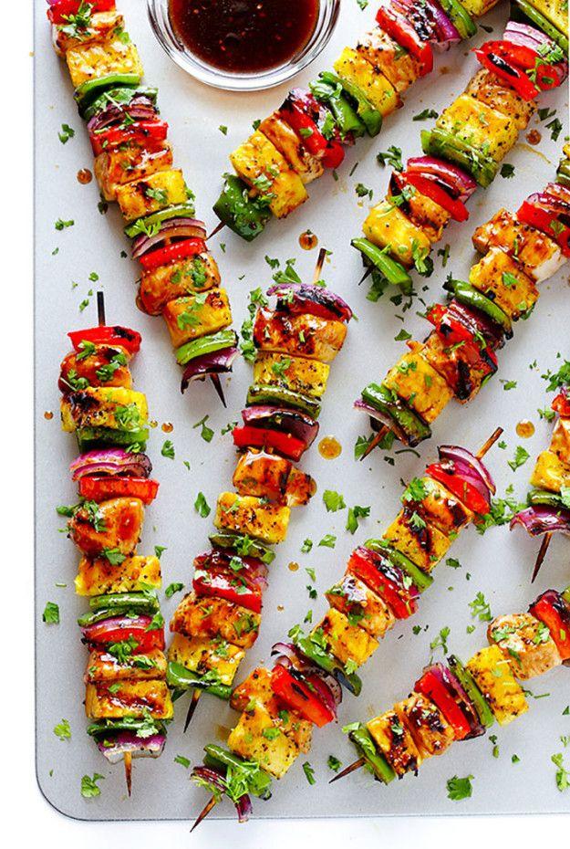 Rainbow Hawaiian Chicken Kebabs | 21 Killer Kebabs To Serve At Your Next BBQ