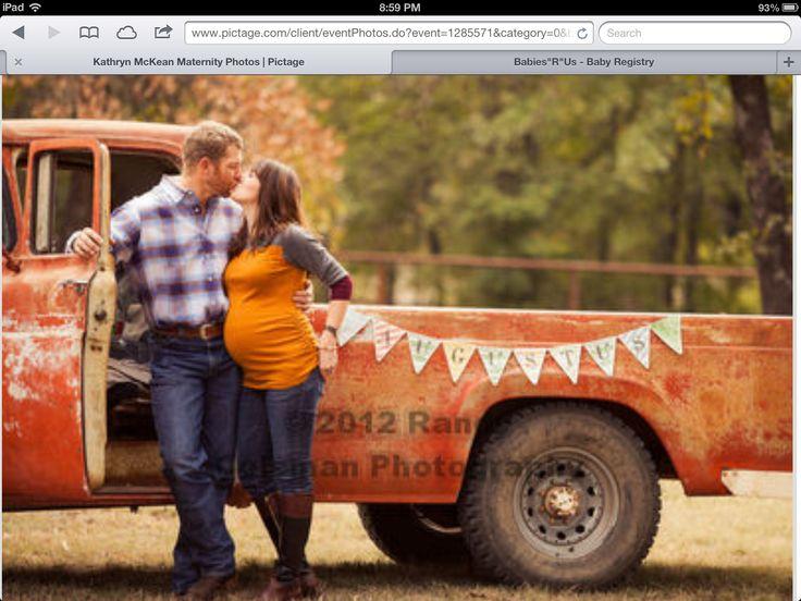 Vintage truck maternity pics