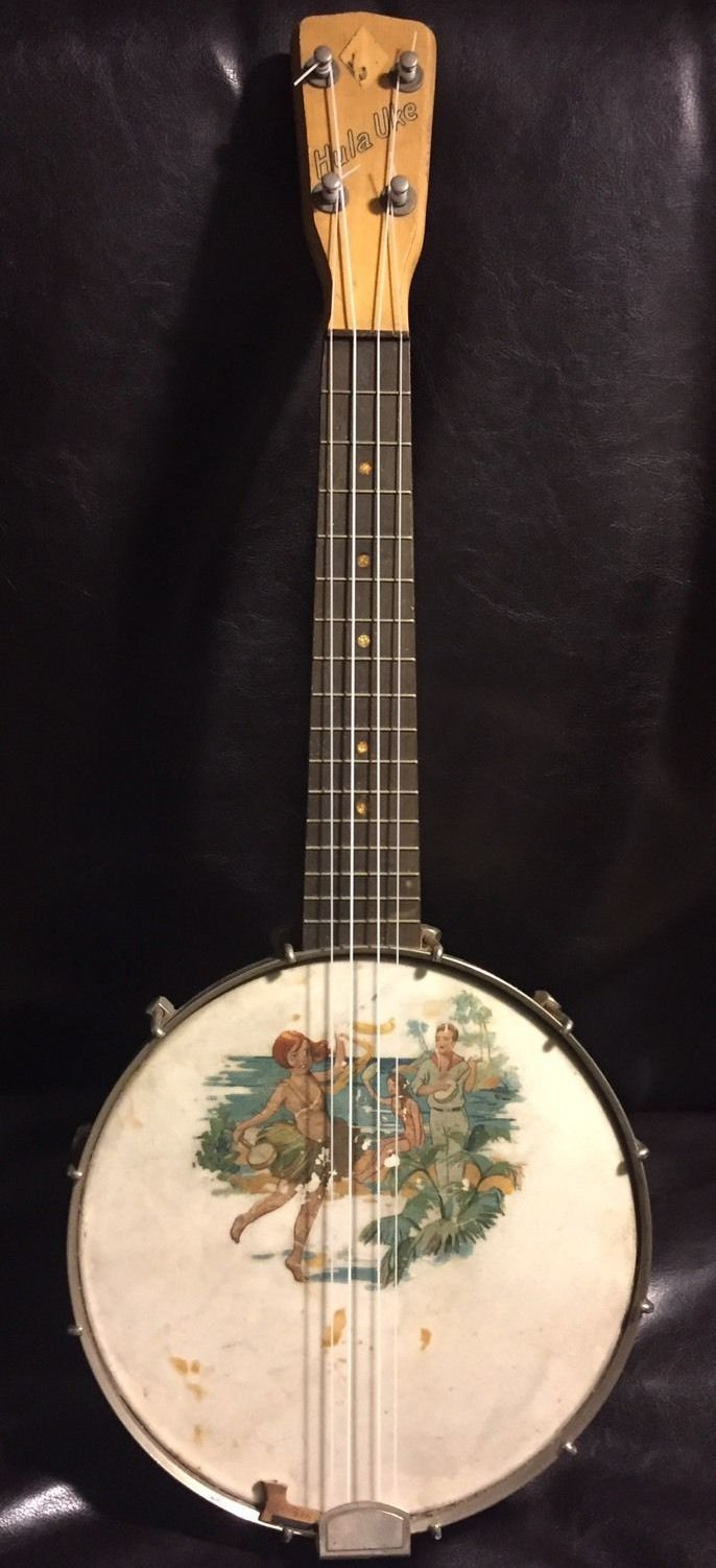 J.R.Stewarts 1926 Hula Uke A glimpse of the innocent and carefree Time Before Trump (or BT as it will become!) !!! am I being a bit to political? --- https://www.pinterest.com/lardyfatboy/