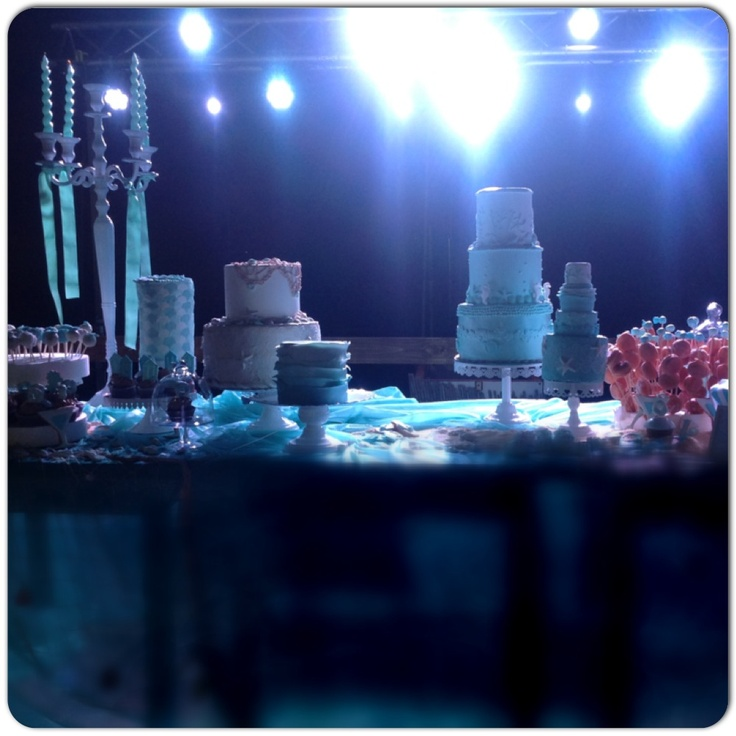 #DessertTable in #tiffanyGreen and Teal for a GuestStar Party o the Beach #sessapasticceria #SessaArtigianiDelGusto
