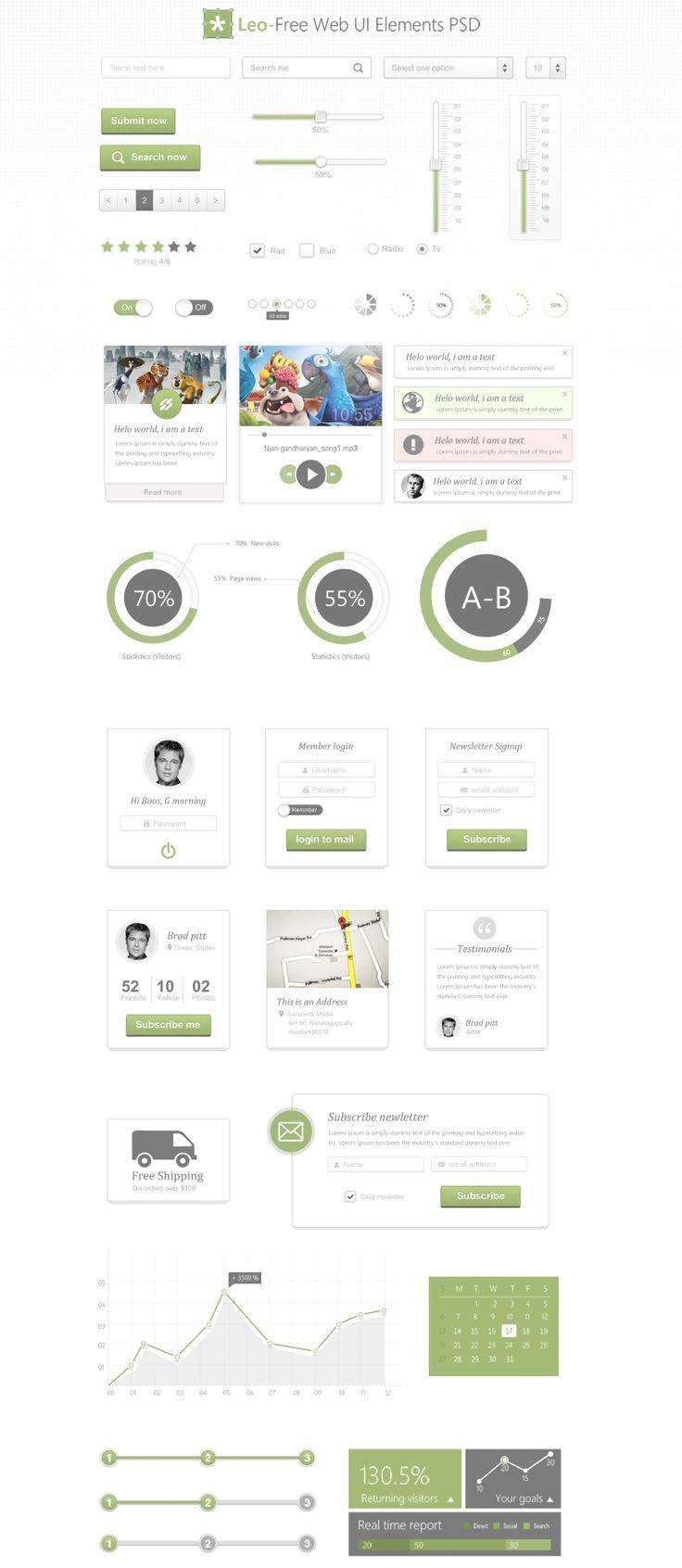Leo – Free Web UI Kit