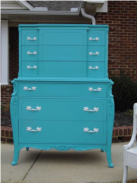 819 best images about turquoise tables dressers on - Muebles estilo provenzal ...