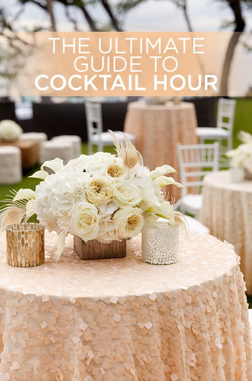 Your cocktail hour sets the tone for the rest of your wedding. Think about it, you have all your friends and family together with the added fun of apps, snappy drinks and mood making music. Here's how to pull it off like a pro: http://www.colincowieweddings.com/articles/ceremony-reception/the-ultimate-guide-to-cocktail-hour