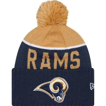 """LA Rams""""Sideline"""" Pom Knit Beanie"""