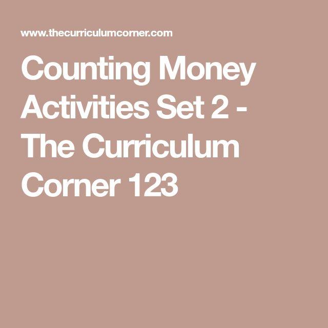 Counting Money Activities Set 2 - The Curriculum Corner 123