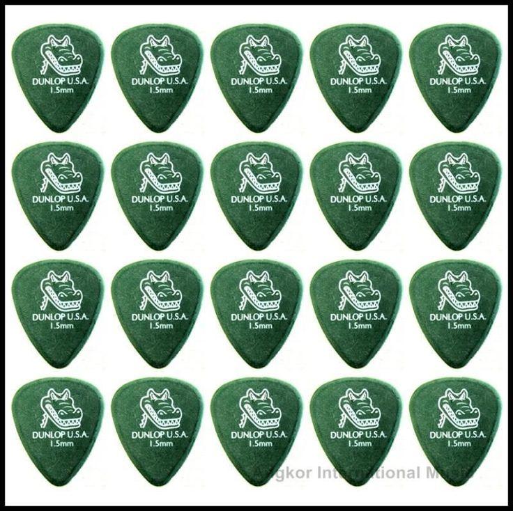 Dunlop Gator Grip 20 x 1.5mm Green Guitar Picks / Plectrums Jim Dunlop x 20