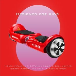 a 45 kids wheel electric motorized scooter hoverboard hoover board ul2722 red b2