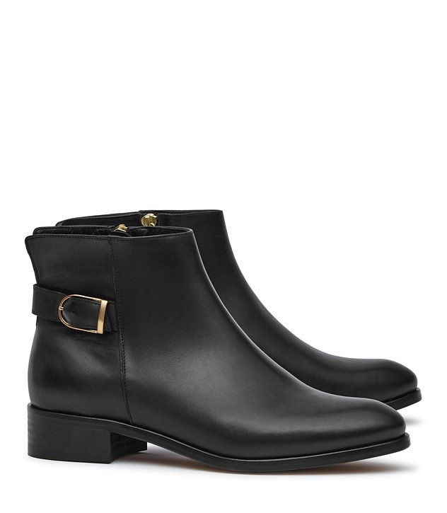 Maisie Black Leather Chelsea Boots - REISS