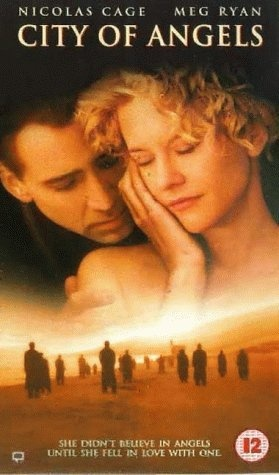 """314 Days-Romantic Films:Till Valentine's:...CITY OF ANGELS...L.A. highly stylized? It's Movie Magic. Rom-Drama deals lightly w/heavy themes: self sacrifice, contrast of human condition, joy of simplicity. 'LOVE STORY Ad HEAVENLY BODIES.' Not ethereal as original but Visually Wonderful. Acting is stellar and scenes are framed to suit.  Meg Ryan does serious and succeeds. Hit soundtrack. QT: """"I wait all day, just hoping for one more minute with you, and I don't even know you.""""   Have…"""
