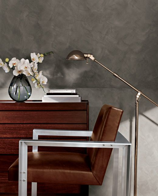 Our Ralph Lauren Paint Suede Specialty Finish, lush gray Desert Broom,  creates a look that's ultra-rich and effortlessly luxe.