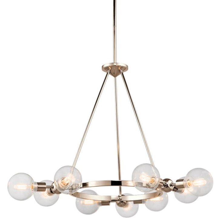 Adjustable Modern Globe Chandelier - $450 http://www.shadesoflight.com/adjustable-modern-globe-chandelier.html