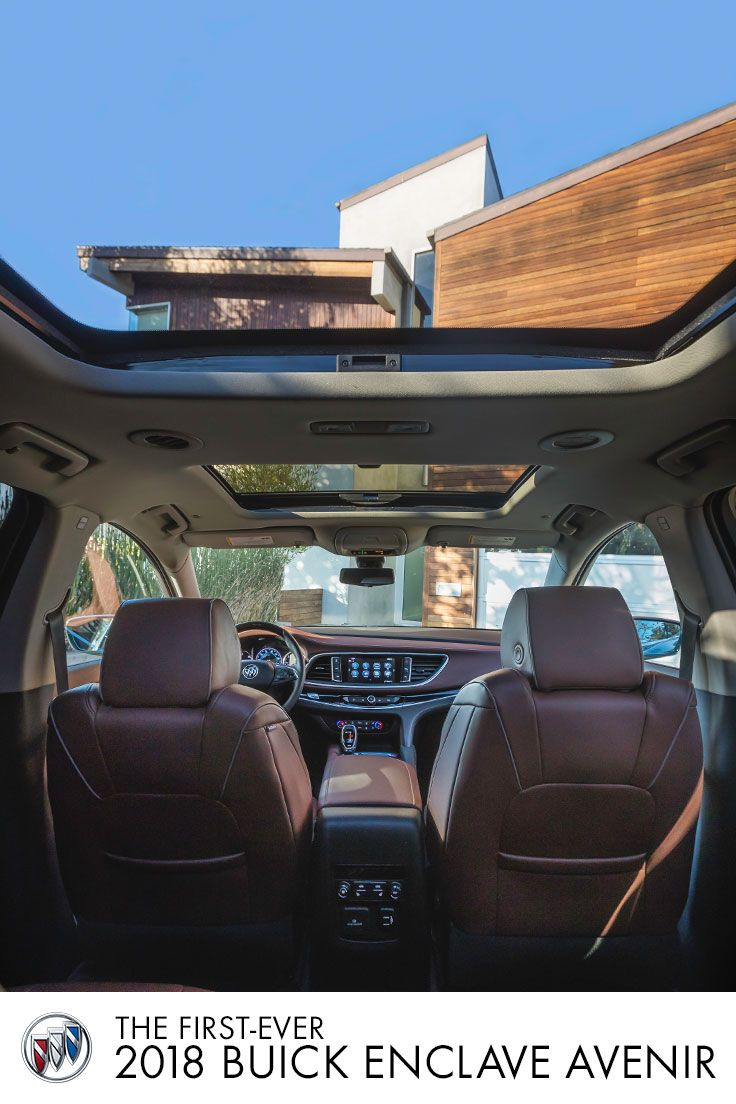 Looking for a new view on flexible convenience? Picture yourself in an All-New Buick Enclave, with available power moonroof you can tilt or slide at the push of a button, and see why it's tomorrow's SUV for today's family.