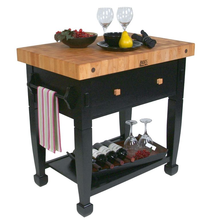 Boos Jasmine Butcher Block Black Table Base Jasmn36243 D S