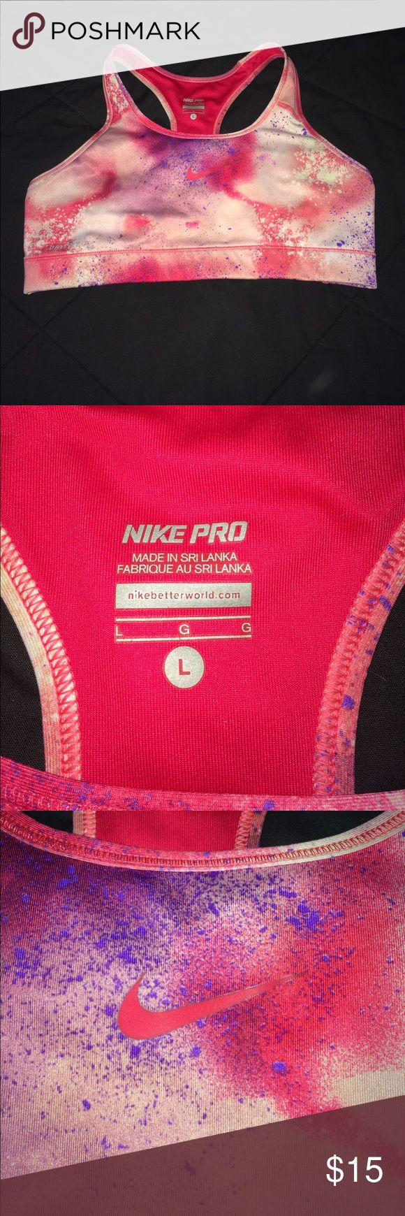 Nike large dri-fit sports bra NEW colorful pinks Nike large dri-fit sports bra NEW colorful pinks Nike Intimates & Sleepwear Bras