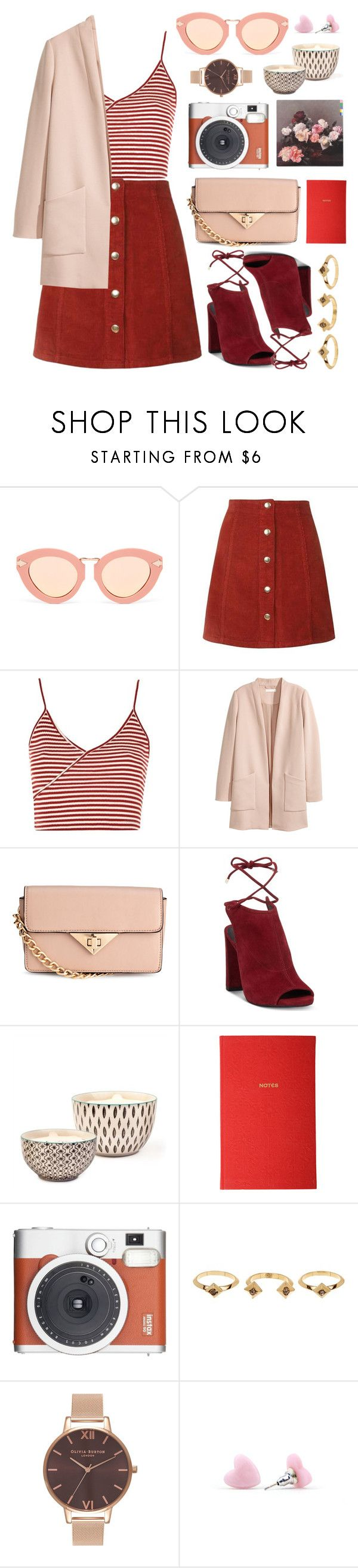 """""""retro sunglasses"""" by enamorado-dina ❤ liked on Polyvore featuring Karen Walker, Topshop, Kenneth Cole, Bambeco, Liberty, Fuji, House of Harlow 1960 and Olivia Burton"""