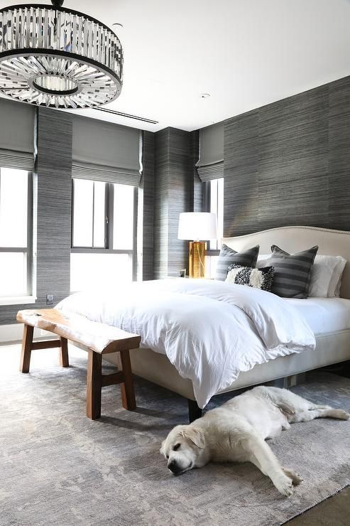 Ivory and gray bedroom