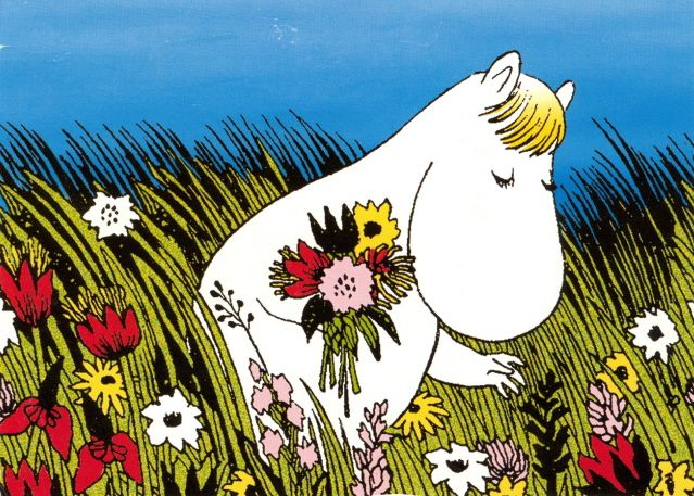 Snorkmaiden picking flowers - Tove Jansson