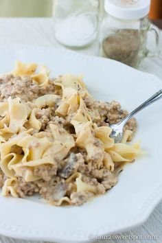 Turkey Stroganoff (Such as easy dish to make for the kiddos. But I think I will cut the salt in half and use a reduced sodium beef broth).