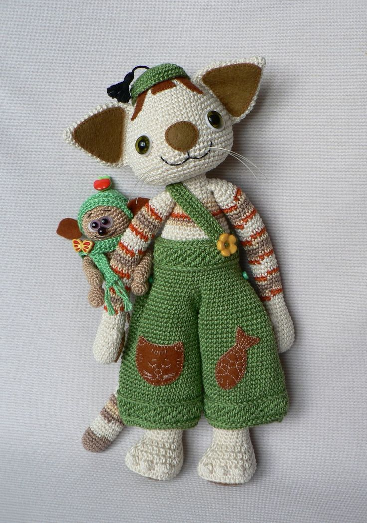 Amigurumi Cat Doll : Best animaux en chiffon images on pinterest fabric
