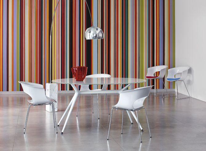 Miss B Chair 4 Leg - White - Scab Design