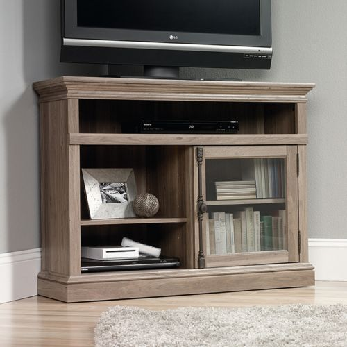 sauder barrister lane collection corner tv stand with its clean lines and spacious - Sauder Tv Stands