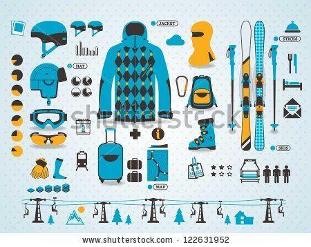 ski info graphics, vector symbols by filip robert, via Shutterstock