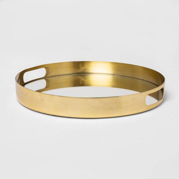 16 X 5 5 Decorative Mirror Metal Tray With Handles Gold Project 62 In 2020 Metal Trays Mirror Decor Metal Tray Decor