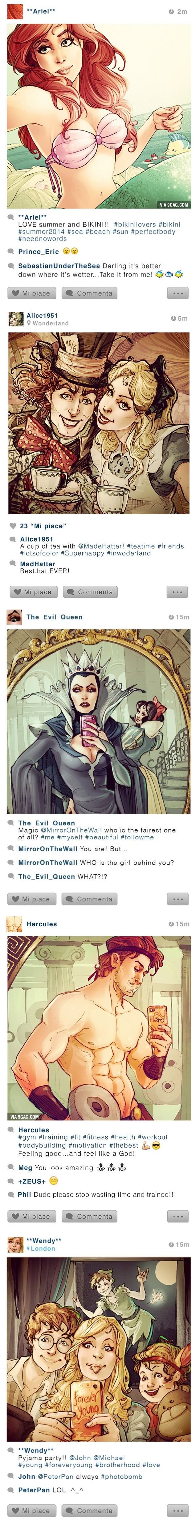 If Disney characters were on Instagram...