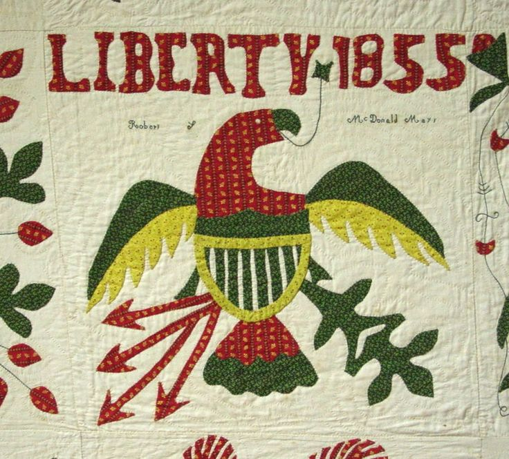 """Liberty 1855″ Album Quilt 