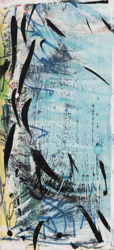 Sans titre (p0066) - Marcelle Ferron - Galerie Simon Blais - 5420, boul. St-Laurent, Montréal. Follow the biggest painting board on Pinterest: www.pinterest.com/atelierbeauvoir