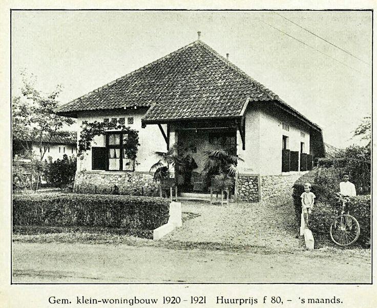 Rumah type kecil dengan sewa per bulan 80 Gulden - Gemeente Bandoeng 1929.