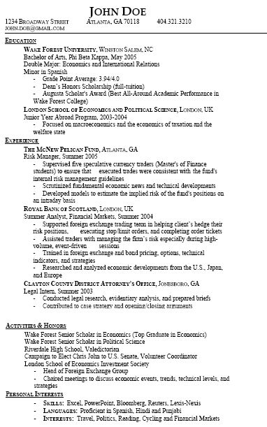 Resume Types and Samples