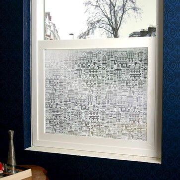 Little City Privacy Window Film - 4 ft. x 7 ft. - contemporary - window treatments - PureModern