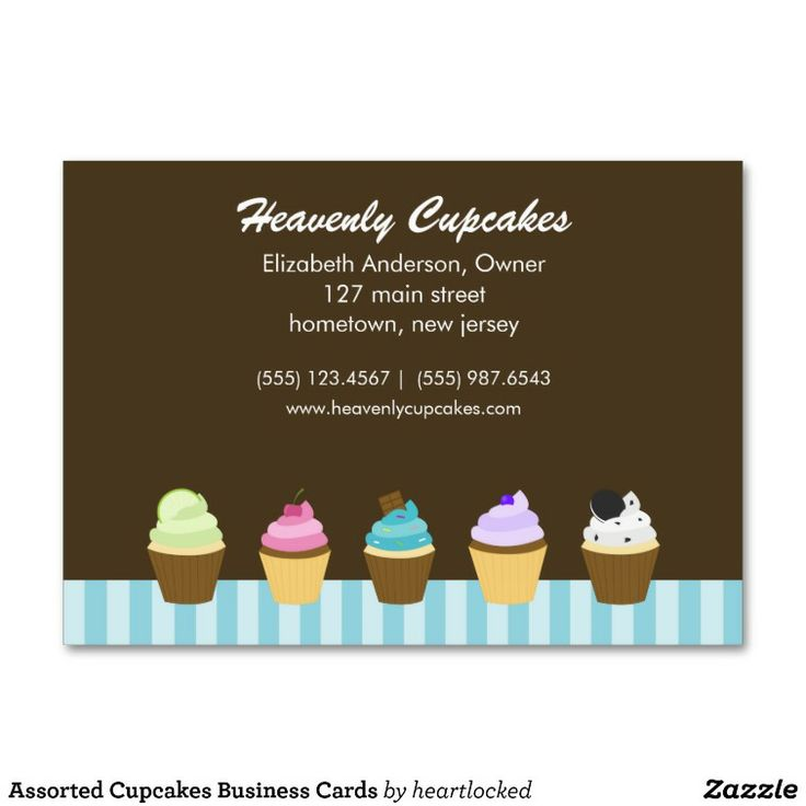 215 best business cards sold on zazzle images on pinterest assorted cupcakes business cards reheart Images