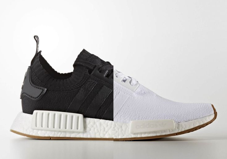 The adidas NMD R1 Primeknit releases in two clean looks with all black or all white uppers and gum rubber soles. Style codes: BY1887 (Black), BY1888 (White)