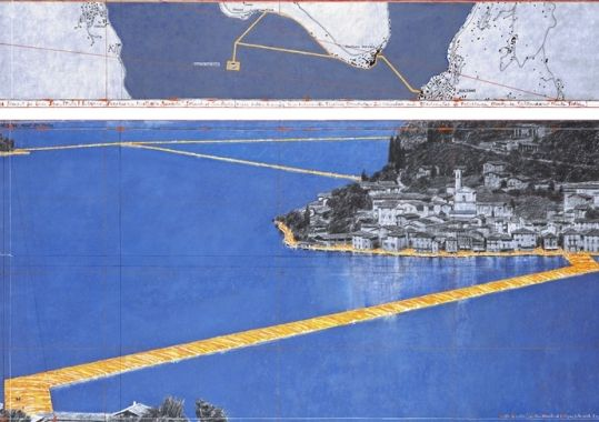 Christo Project The Floating Piers from 18.06. - 03.07.2016 #Christo #TheFloatingPiers - http://www.ferienhaus-iseosee.com/the-floating-piers/